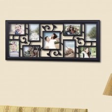 AdecoTrading 9 Opening Decorative Filigree Wall Hanging Collage Picture Frame ADEC1867