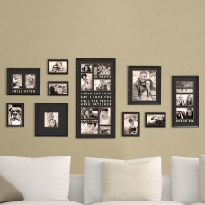 Red Barrel Studio Gimenez 10 Piece Luxury Typography Picture Frame Set CDCI1060