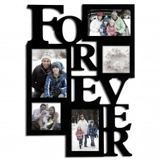 Zipcode Design 5 Opening Decorative Wood Forever Collage Wall Hanging Picture Frame ZIPC6113