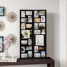 Latitude Run Pillar 26 Opening Decorative Wood Folding Floor-Standing Photo Collage Picture Frame LATR7233