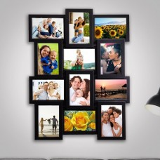Winston Porter Gerhardt Gallery Collage Wall Hanging 12 Opening Photo Sockets Picture Frame WNSP2665