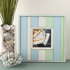 Highland Dunes Worn Painted Wood Picture Frame HLDS2964
