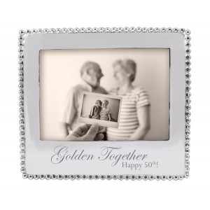 Mariposa Golden Together Happy 50th Beaded Picture Frame MPSA1613