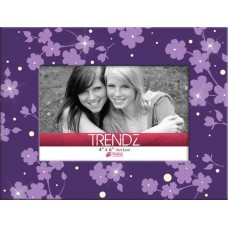 Timeless Frames Trendz Floral Glass Tabletop Photo Frame TQB1404