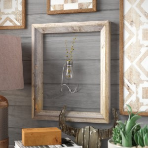 Union Rustic Banjo Rustic Reclaimed Barn Wood Open Picture Frame UNRS1023