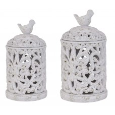 Crestview French Regent 2 Piece Birdsong Canisters CVV2300