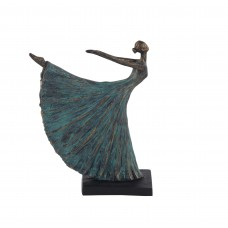 Latitude Run Kitty Rustic Dancer in Arabesque Figurine LDER7144