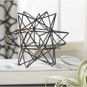 Mercury Row Wire Star Black/Gold Iron Sculpture MCRW6953