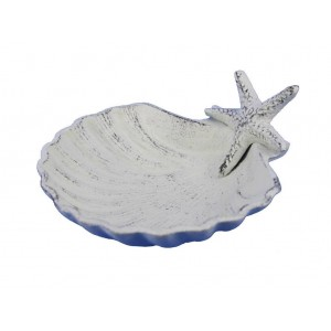 Beachcrest Home Bastimentos Shell with Starfish Decorative Bowl BCMH2366
