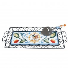 Fitz and Floyd Ricamo Rectangular Serving Tray FIZ1861