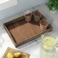 Gracie Oaks Donna Rectangular Wooden Serving Tray GRCS7927