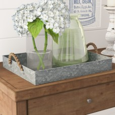Laurel Foundry Modern Farmhouse Rectangle Galvanized Tray LRFY6406