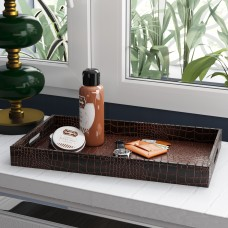 Willa Arlo Interiors Sofiya Traditional Rectangle Tray WRLO8054