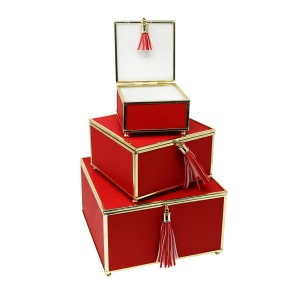 Mercer41 Odell Manor 3 Piece Decorative Box Set with Tassel SGBH6596
