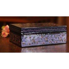 Novica Floral Fantasy Hand Crafted Wood Decorative Box NVC5202
