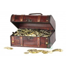 Quickway Imports Pirate Treasure Chest Decorative Box QWI1070