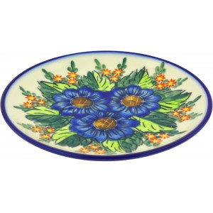 Polmedia Bouquet Polish Pottery Decorative Plate PMDA3536