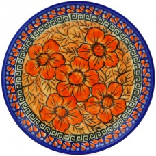 Polmedia Fire Poppies Polish Pottery Decorative Plate PMDA3545