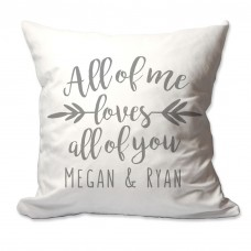 4 Wooden Shoes Personalized All of Me Loves All of You Throw Pillow FWDS1124