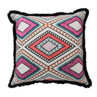 Blissliving Home Mexico City Poncho Cotton Throw Pillow BLL2784
