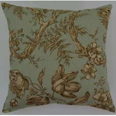 Creative Home Tulipano Aqua Cotton Throw Pillow CRH1916