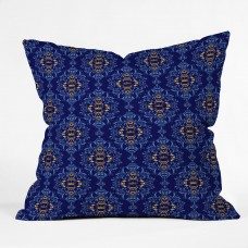 East Urban Home Royal Damask Pattern Throw Pillow EBHU5543