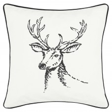 Eddie Bauer Winter Morning Stag 100% Cotton Throw Pillow ERB1766