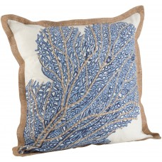 Highland Dunes Aloisia Sea Fan Cotton Throw Pillow HIDN5266