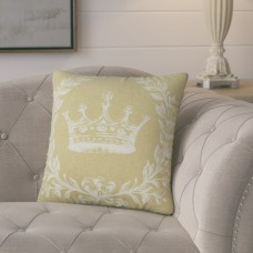 Lark Manor Clematite Coral Crown Linen Throw Pillow LARK2810
