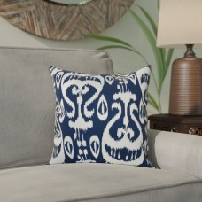 Mistana Bridgehampton Ikat Geometric Print Throw Pillow MTNA2773