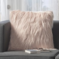 Mistana Milagro Faux Fur Square Throw Pillow MTNA4471