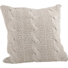 Saro McKenna Cable Knit Cotton Throw Pillow SARO2897