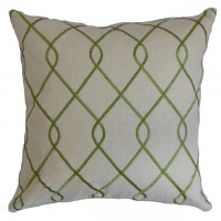 The Pillow Collection Jolo Geometric Linen Throw Pillow PICO3355