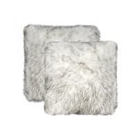 Union Rustic Sheba Faux Fur Throw Pillow UNRS2882