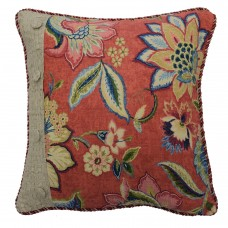 Waverly Brighton Blossom Pieced Cotton Throw Pillow WVY2429