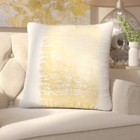 Willa Arlo Interiors Garlan Metallic Banded Cotton Throw Pillow WRLO1690