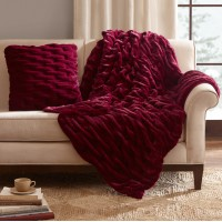 Zipcode Design Kanesha Ruched Faux Fur Throw Pillow ZPCD4199