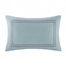 echo design Larissa Embroidered Cotton Lumbar Pillow ECH1859