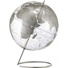 Brayden Studio Crystal Marquise Transparent Silver World Globe BYST7238