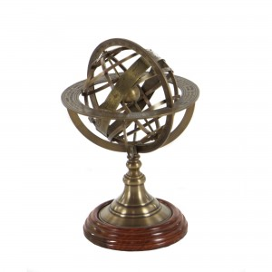 Longshore Tides Engraved Brass Tabletop Armillary Nautical Sphere Globe LNTS4012