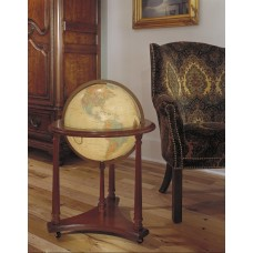 Replogle Lafayette Antique Aluminum Floor Globe RB1093