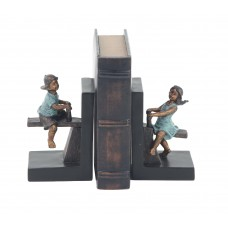 Alcott Hill Modern Playing Boy and Girl Bookends ALTH4137