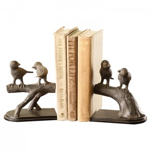 August Grove Bird on Branch Book Ends AGGR6341