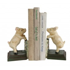 August Grove Cast Iron Reproduction Pig Bookends AGRV1402