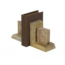 Cole Grey Wood Bookends CLRB3617