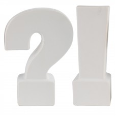 Mercer41 2 Piece Question and Exclamation Mark Bookend MRCR5059