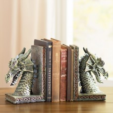 World Menagerie Cresting Dragon Book Ends WLDM7771