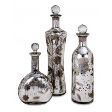 Bungalow Rose Darrin Etched 3 Piece Decorative Bottle Set BGRS4494