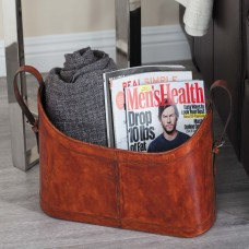 Cole Grey Real Leather Magazine Rack CLRB3418