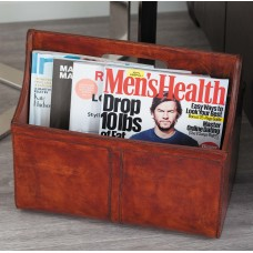 Cole Grey Real Leather Newspaper Holder CLRB3420